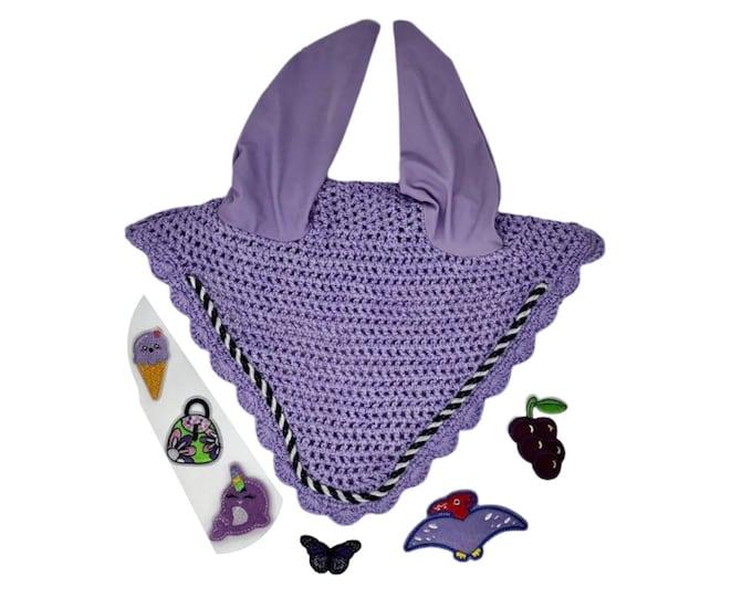 Choose Your Patch Lavender Bonnet! Horse Size