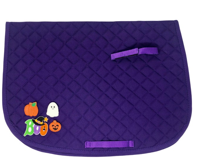 Purple Halloween Saddle Pads!