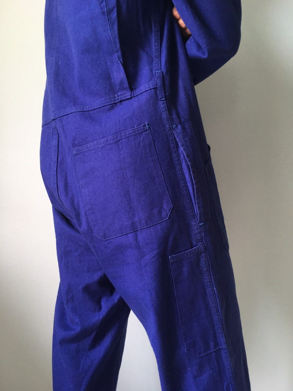 French Coveralls / Moleskin / Size M-L / Vintage … - image 6
