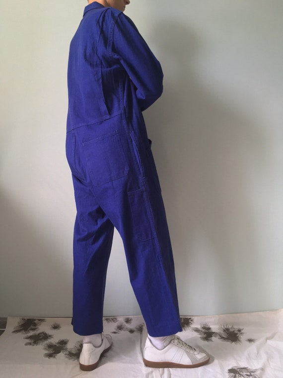 French Coveralls / Moleskin / Size M-L / Vintage … - image 3
