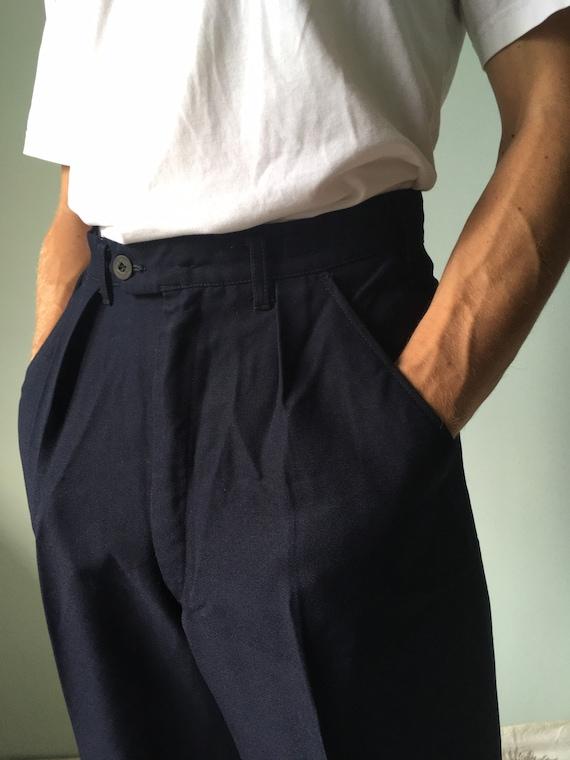 Vintage Swedish Army Navy Pants / Military Surplus