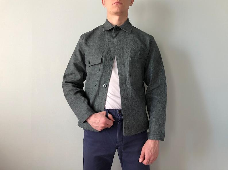 Vintage Swiss Work Jacket  Size S-M  Vintage Workwear  Chore Jacket