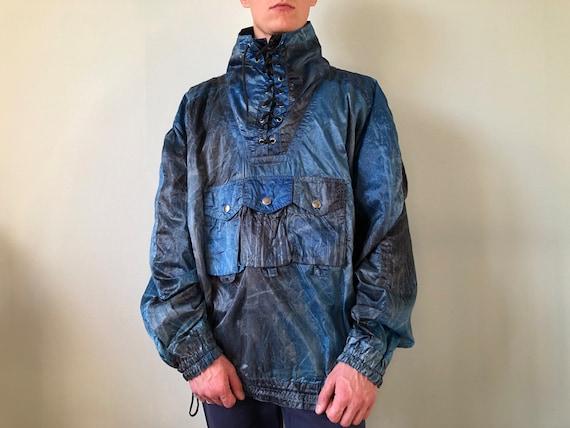 Vintage Ski Smock / Parachute Material / Size - L