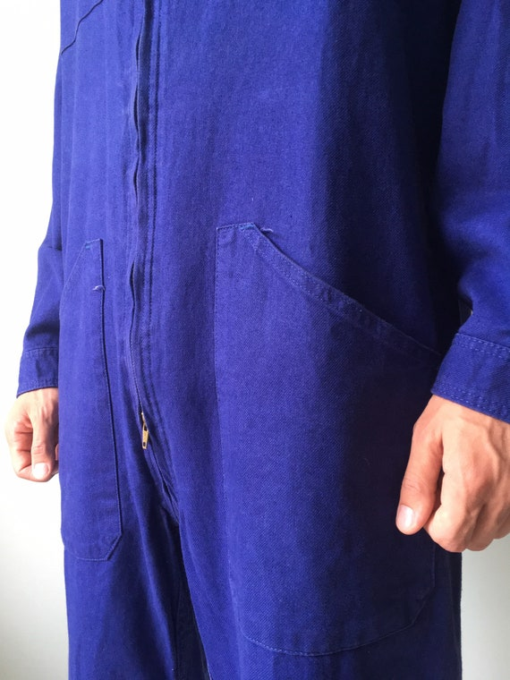French Coveralls / Moleskin / Size M-L / Vintage … - image 7