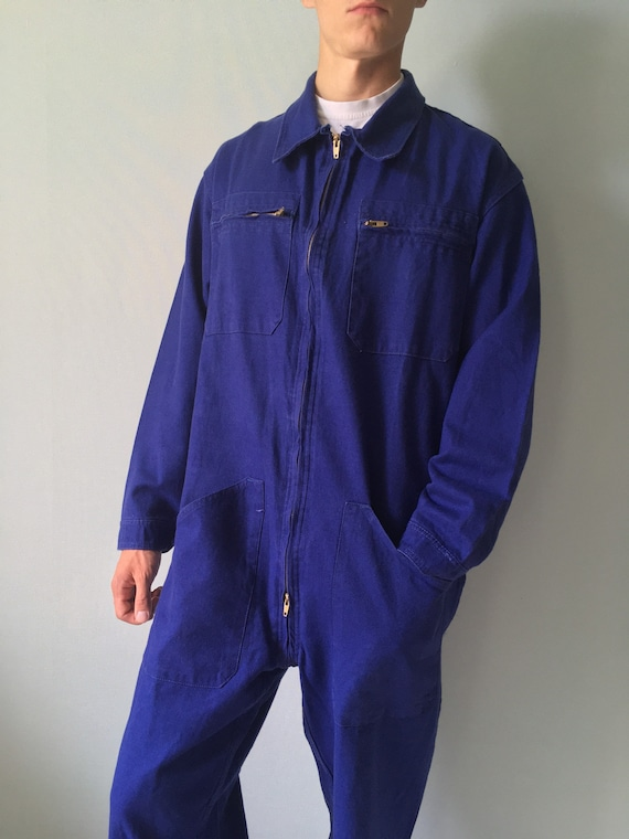 French Coveralls / Moleskin / Size M-L / Vintage … - image 5