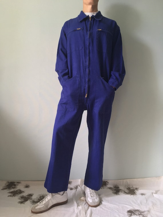 French Coveralls / Moleskin / Size M-L / Vintage … - image 2