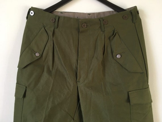 Swedish Vintage Military Trousers / Size W42 / Mil