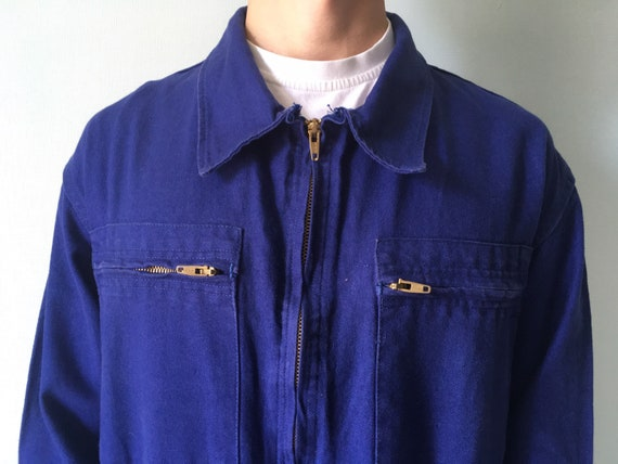 French Coveralls / Moleskin / Size M-L / Vintage … - image 4