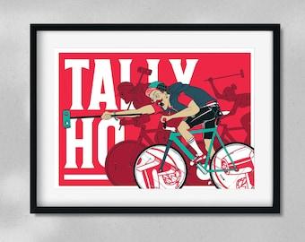 Tally Ho - Bike Polo - Cycling - A4 Digital Art Print