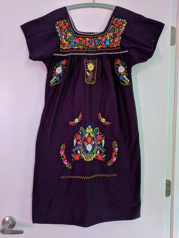 Mexican Embroidered Puebla Dress