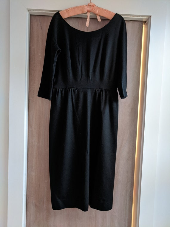 1960s vintage black cocktail dress