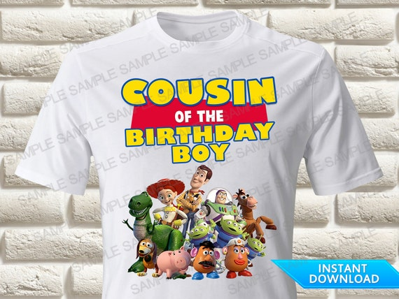 Printable Toy Story Brother Iron On Transfer Toy Story Brother of the Birthday Boy Iron On Transfer DIY Toy Story 4 T Shirt Iron On Transfer