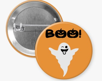 Cute Halloween Pin, Ghost Button, Pinback Button, Flair Button, Buttons for Bag, Coworker Gift, Teacher Gift, Halloween Pin for Backpack