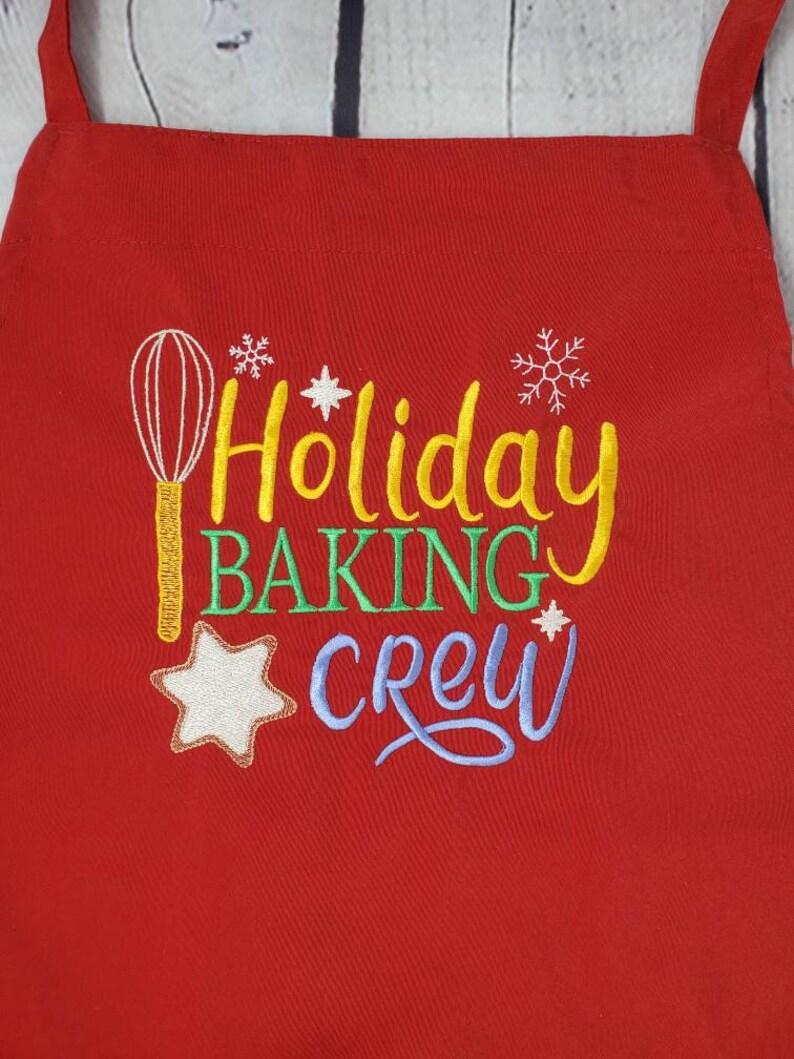 Christmas Apron TNTsDynamiteCreation Holiday Apron Embroidered Apron
