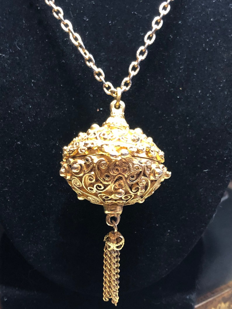 Vintage Signed Florenza Bal-de Parfumerie Perfume Gold Tone image 0