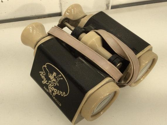 Vintage Roy Rogers binoculars with strap