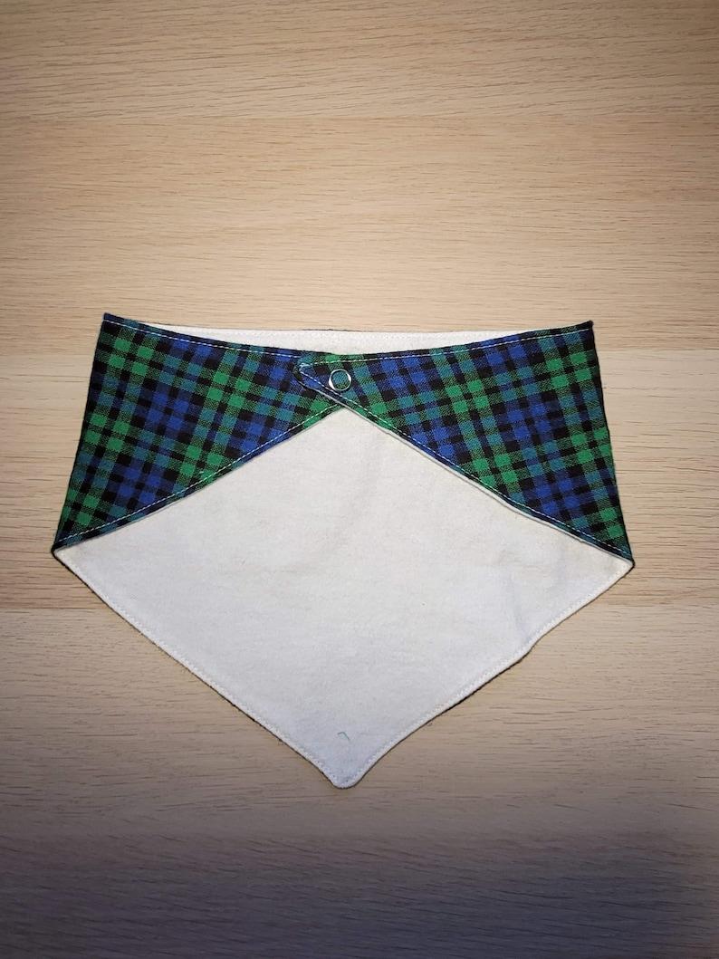 Drool Bib Set of 2 Flannel Bandana Bib