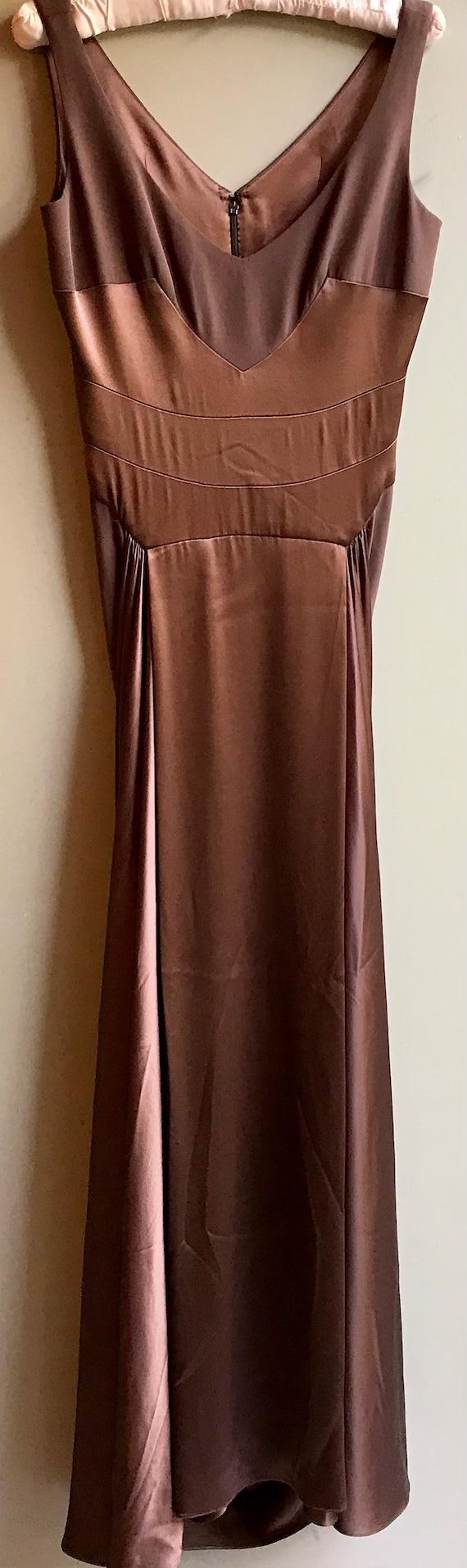 Stunning Vintage 50s Silk Gown sz M