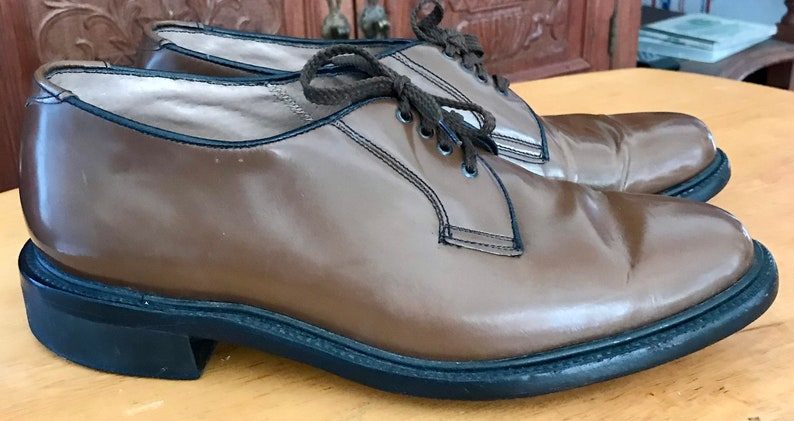 Vintage 1940\u2019s Bostonianos Patent Leather Oxfords Hand Made sz 8