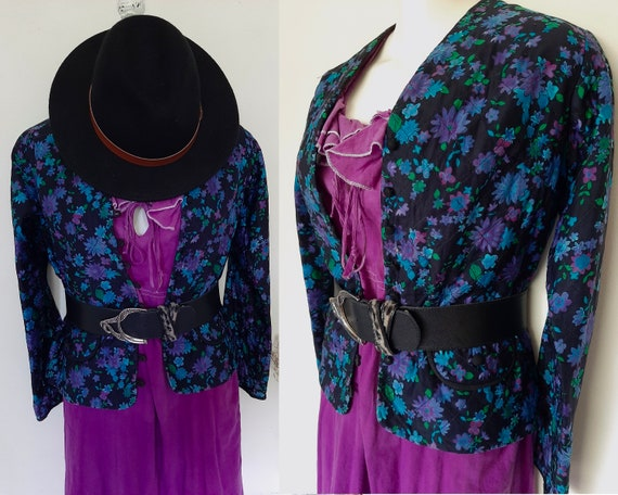 """VTG 1960s """"Tullo"""" quilted floral Jacket by iconic"""