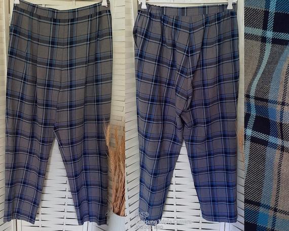 Vintage 80s pants, plaid, size AU16 - image 2