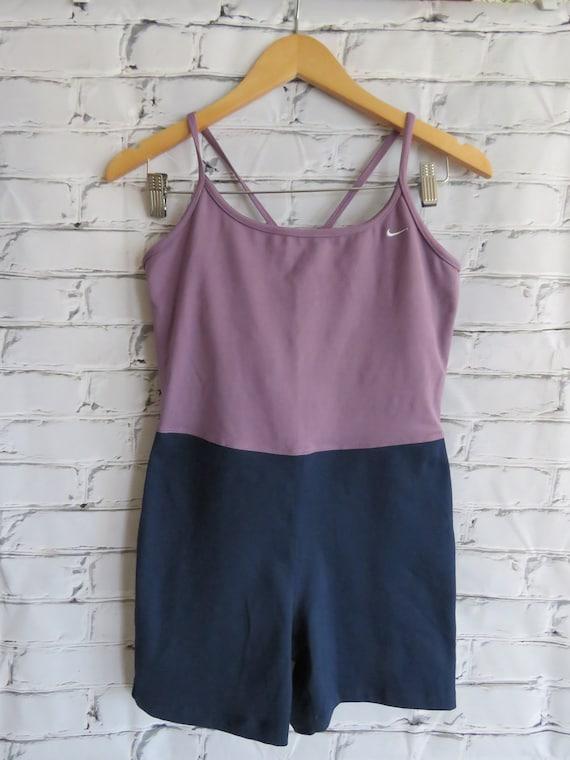 Vintage Nike Unitard/Swimsuit Purple & Navy Women'