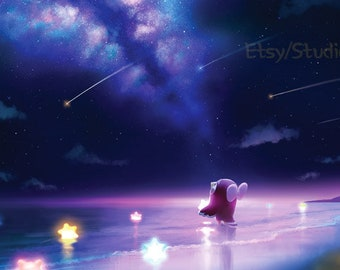 Animal Crossing New Horizon Series Celeste _ Print Poster