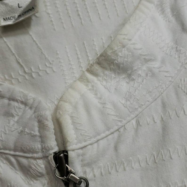 Vintage Christopher /& Banks Embroidered Zip Top Size Large