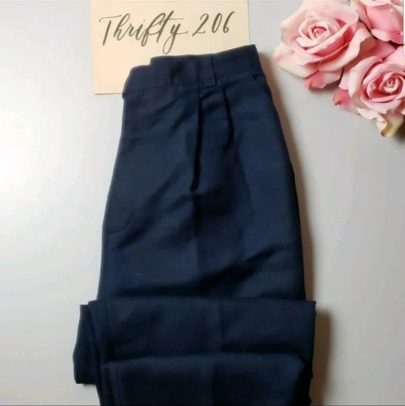 Vintage Signature Expressions Navy Tapered Pants S