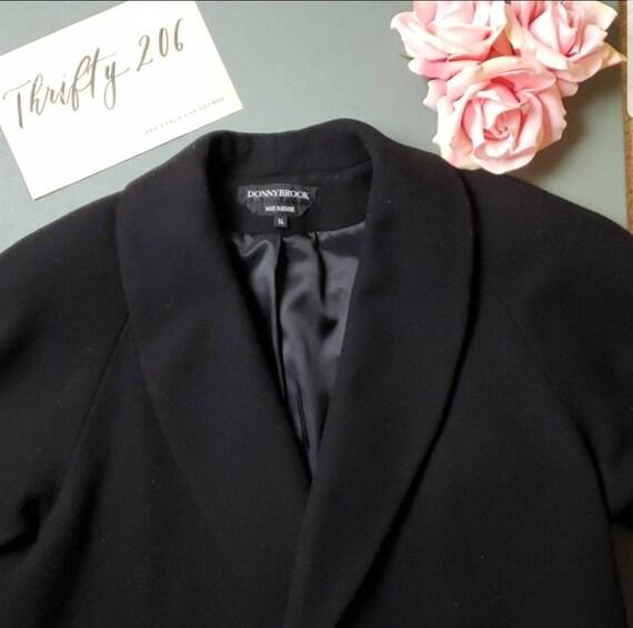 Vintage Size 14 Donnybrook Long Jacket 100% Wool