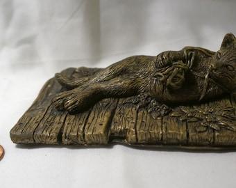 Badger  1 of 1 2021 Post-MarvArt Antiqued-Brass Figurine