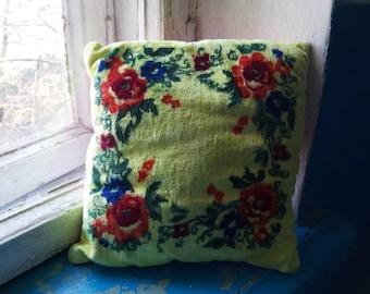 soviet boho velour pillowcase