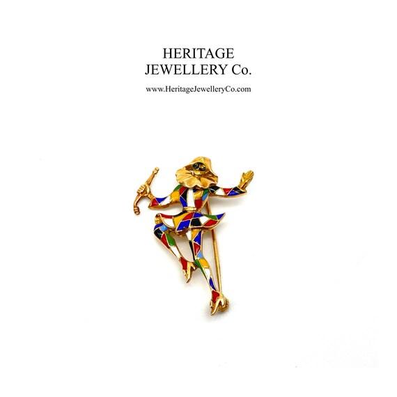 Antique Gold Jester / Harlequin Brooch (18ct Gold