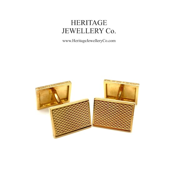 VCA 18ct Gold Cufflinks with Travel Pouch (Van Cle