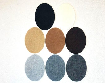 One Patch: Cashmere Sweater Elbow, Blanket, Other Item Hole Repair, Cover Stain, or Customize w/ 100% Cashmere Oval Patch; Sold Individually