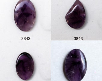 Loose Unusual Banded Agate Pendant Stone Amethyst Lace Agate Cabochon