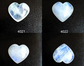 Famine Energy Crystal White Rainbow Moonstone Heart Cabochons for Pendant Jewelery Making stone Natural Blue Moonstone Beginning Gemstone