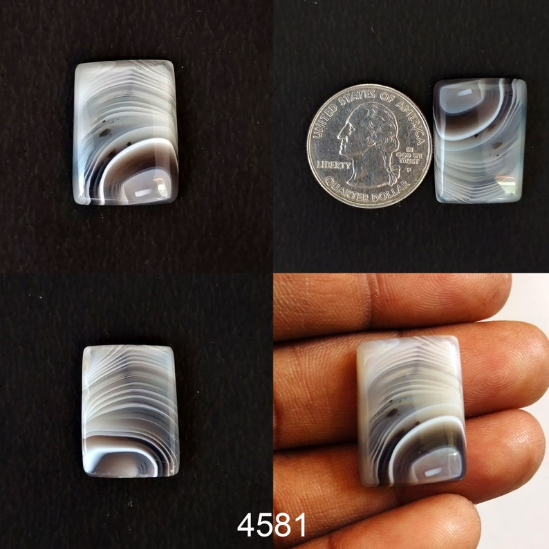 Healing Stone for Wire wrap DIY Ring Pendants Jewelry Supplies LOT Agate Gemstone Botswana Crystal Designer Agate Botswana Agate Cabochon