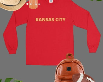 Kansas City Football MO // Missouri Long Sleeve Shirt