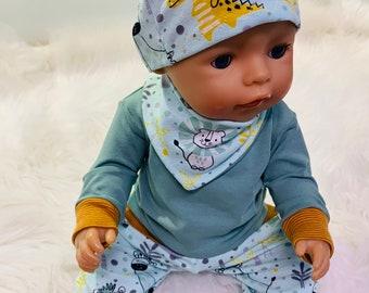 Puppen Set  4 teilig  passt Puppen der Größe 43 cm