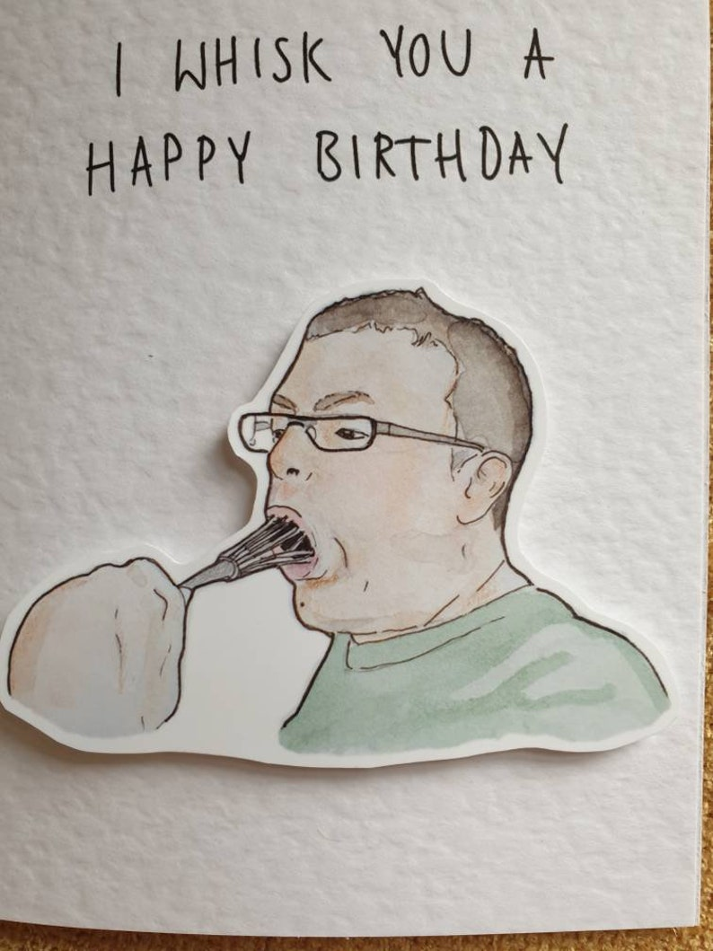 come dine with me card I whisk you a happy birthday Greeting Cards ...