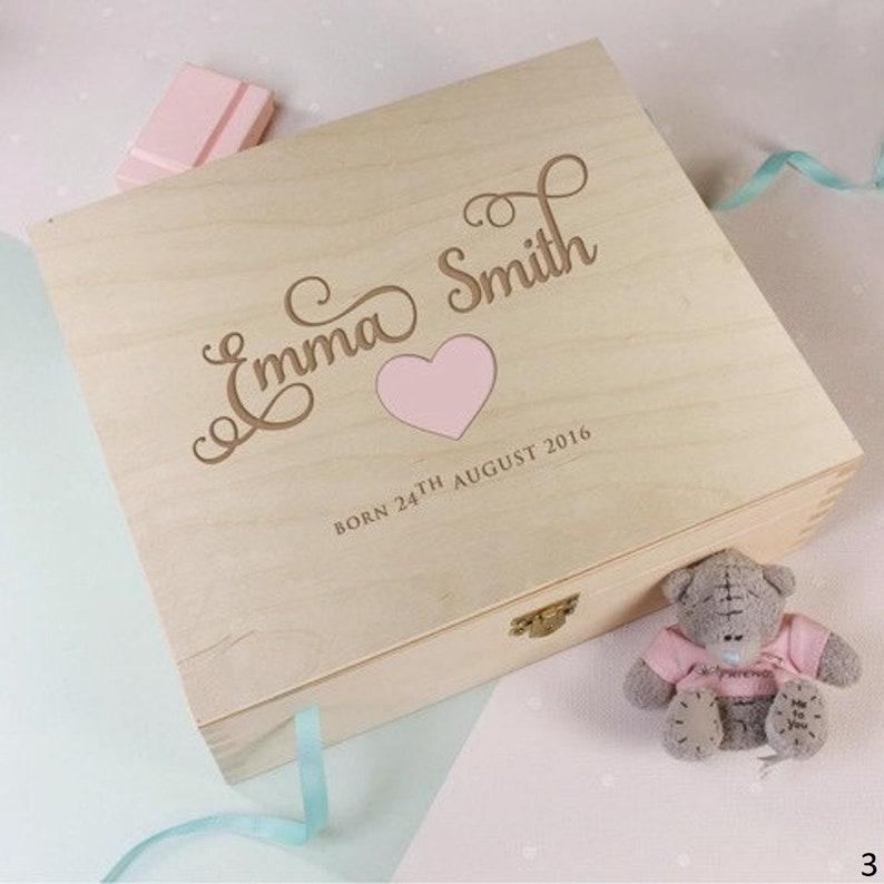 First Christmas Baby Girl /& Baby Boy Wooden Baby Keepsake Memory Box Personalized Baby Shower Gift Custom Engraved Wooden Box Gift Set