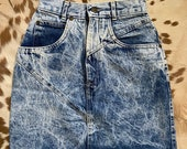 22 vintage acid wash denim skirt