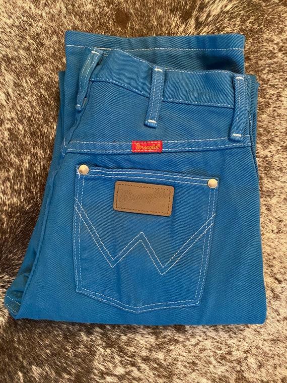 """28"""" blue wrangler jeans"""