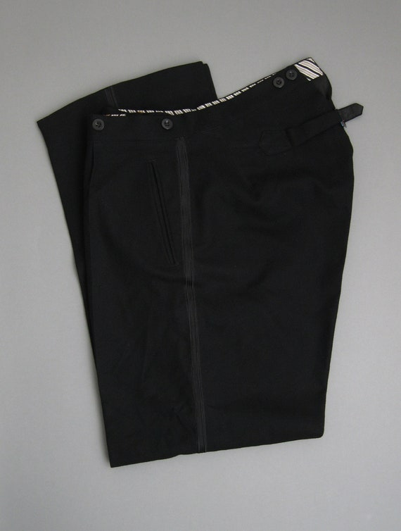 Vintage 1930s  Wool Trousers Buckle  Back 30s  Woo