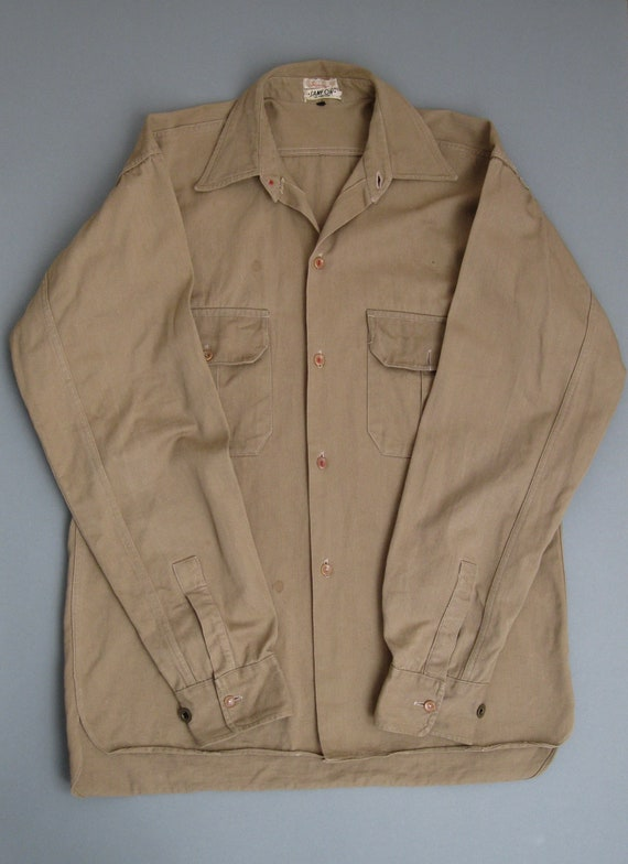 Vintage 1930s Work Shirt Vintage European Work Shi