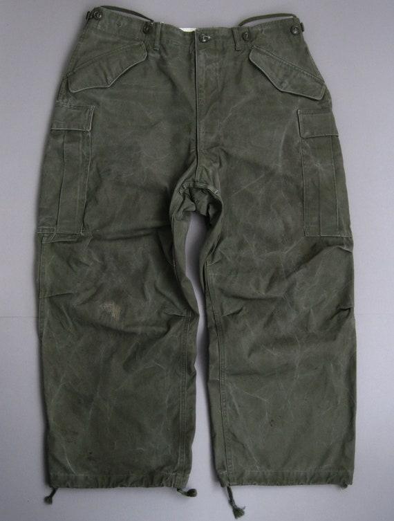 Vintage 50s US Army Field Trousers 1950s Korean Wa