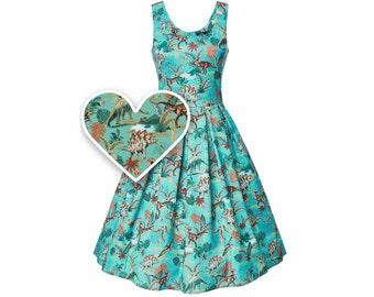 Cute Print Dinosaur Swing Dress