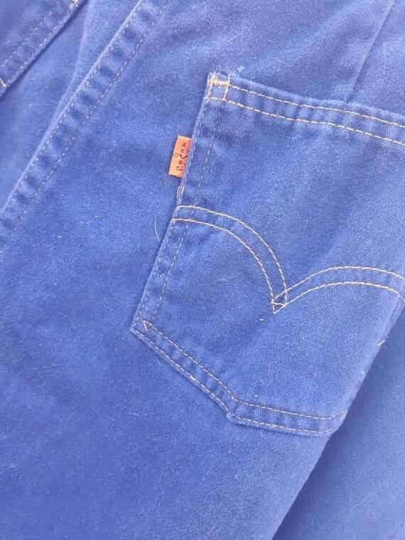 Vintage 1970s Levi's Orange Tab skirt, button fro… - image 4