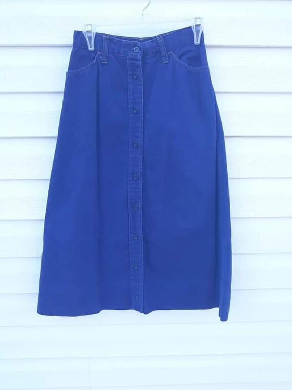 Vintage 1970s Levi's Orange Tab skirt, button fro… - image 1